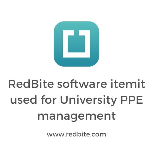 RedBite software itemit used for University PPE management